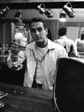 Actor Paul Newman Raising a Glass During an Informal Party