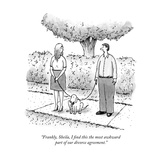 """Frankly  Sheila  I find this the most awkward part of our divorce agreeme…"" - New Yorker Cartoon"