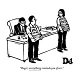 """""""Roger  everything reminds you of sex"""" - New Yorker Cartoon"""