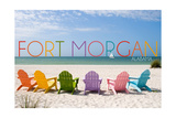 Fort Morgan  Alabama - Colorful Beach Chairs