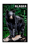 Alaska - Black Bear - Scratchboard