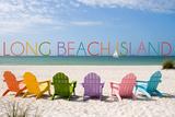 Long Beach Island - Colorful Beach Chairs