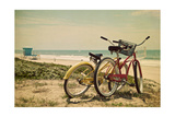 Bicycles and Beach Scene