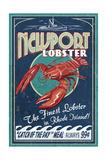 Newport  Rhode Island - Lobster Vintage Sign