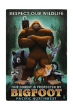 The Pacific Northwest - Respect Our Wildlife - Bigfoot