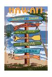 North Shore  Haleiwa  Hawaii - Sign Destinations