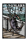 Alaska - Dungeness Crab - Scratchboard