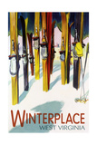 Winterplace  West Virginia - Colorful Skis