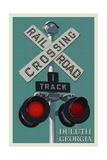 Duluth  Georgia - Railroad Crossing - Letterpress