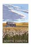 Nouth Dakota - Wheat Field and Shack