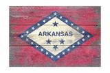 Arkansas State Flag - Barnwood Painting