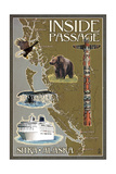 Sitka  Alaska - Inside Passage Map