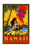 Maui  Hawaii - Hula Girl and Ukulele