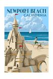 Newport Beach  California - Sand Castle