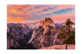 Yosemite National Park  California - Half Dome and Sunset