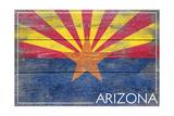 Arizona State Flag - Barnwood Painting