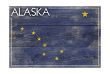 Alaska State Flag - Barnwood Painting