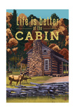 Life is Better at the Cabin - National Park WPA Sentiment