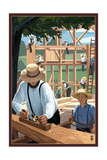 Amish Barnraising Scene