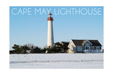 Cape May  New Jersey - Lighthouse in Winter