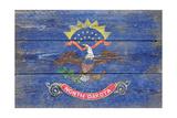North Dakota State Flag - Barnwood Painting