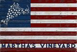 Martha's Vineyard - USA Flag and Stars
