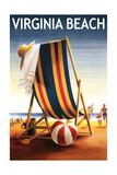 Virginia Beach  Virginia - Beach Chair and Ball