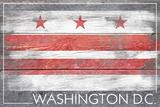 Washington DC Flag - Barnwood Painting