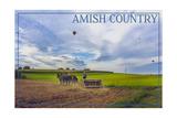 Amish Country - Farmer and Hot Air Balloons