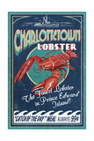 Prince Edward Island - Lobster Vintage Sign