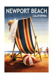 Newport Beach  California - Beach Chair and Ball