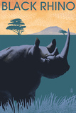 Black Rhino - Lithograph Series