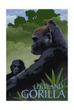 Lowland Gorilla - Lithograph Series