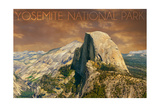 Yosemite National Park  California - Half Dome from Glacier Point