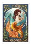 St Marys  Georgia - Mermaid