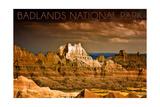 Badlands National Park  South Dakota - Stormy Sky