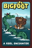 Bigfoot Catches Loch Ness Monster