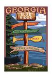 Blue Ridge  Georgia - Destination Signpost