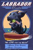 Black Labrador - Retro Boats Ad