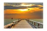 Bethany Beach  Delaware - Dock at Sunset