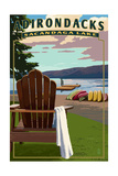 Adirondack Mountains  New York - Sacandaga Lake Adirondack Chair