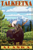 Talkeetna  Alaska - Moose Scene