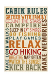 Cabin Rules Typography