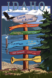 Coeur D'Alene  Idaho - Destination Signpost