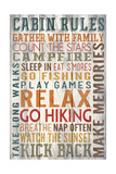 Cabin Rules Typography - Barnwood Painting