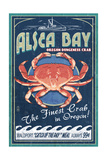 Alsea Bay  Oregon - Dungeness Crab Vintage Sign