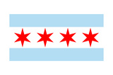 Chicago  Illinois - Flag (Version 2)