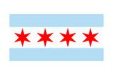 Chicago  Illinois - Flag (Version 2)