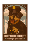 Rottweiler - Retro Security Ad