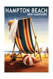 Hampton Beach  New Hampshire - Beach Chair and Ball